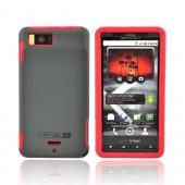 Original Naztech Motorola Droid X MB810 Hard Cover Over Silicone w/ Screen Protector, 11070 - Gray/Red