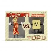 Mr. Bacon VS. Monsieur Tofu Action Figures