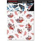"Chrismukkah Reversible Gift Wrap 2 Pack - (20"" x 30"")"