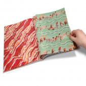 Meat Parade Gift Wrapping Paper Book w/ 12 Tear-Out sheets of Meaty Wrapping Paper!
