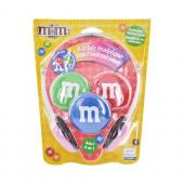 Original Maxell Universal Kids Safe M&M's Headset w/ Changeable Colors, 190570 - Pink/Green/Blue/Red (3.5mm)
