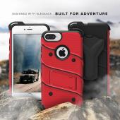 Apple iPhone 6S/6 Plus (5.5 inch) Case - [BOLT] Heavy Duty Cover w/ Kickstand, Holster, Tempered Glass Screen Protector & Lanyard [Red]