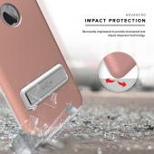 Apple iPhone 7 Plus (5.5 inch) Case, ELITE Cover Slim & Protective Case w/ Built-in [MAGNETIC Kickstand] Shockproof Protection Lightweight [Metallic Hybrid] w/ Tempered Glass [Rose Gold]
