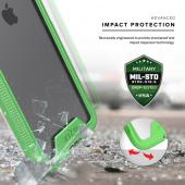 Apple iPhone 7 Plus (5.5 inch) Case, ION Single Layered Shockproof Protection TPU & PC Hybrid Cover w/ Tempered Glass [Neon Green/ Clear]