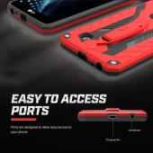 LG Stylo 2 Plus Case, STATIC Dual Layer Hard Case TPU Hybrid [Military Grade] w/ Kickstand & Shock Absorption [Red/ Black]