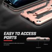 LG Stylo 2 Plus Case, STATIC Dual Layer Hard Case TPU Hybrid [Military Grade] w/ Kickstand & Shock Absorption [Rose Gold/ Black]