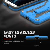 Samsung Galaxy J7 (2015) Case, STATIC Dual Layer Hard Case TPU Hybrid [Military Grade] w/ Kickstand & Shock Absorption [Blue/ Black]