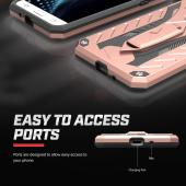 Samsung Galaxy J7 (2015) Case, STATIC Dual Layer Hard Case TPU Hybrid [Military Grade] w/ Kickstand & Shock Absorption [Rose Gold/ Black]