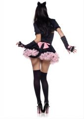 LegAvenue Halloween Costume Pretty Kitty Accessory Kit, Gloves, Headband And Tail (3 PC)
