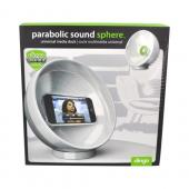 Clingo Universal Cellphone Parabolic Sound Amplifier Sphere Holder, 30260 - White,Green
