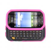 Super Premium Pantech Crossover P8000 Rubberized Sliding Hard Case - Pink
