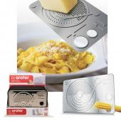 DCI DJ Grater, Stainless Steel Cheese Grater w/ Serving Spaghetti Measuaring Holes
