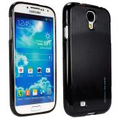 Body Glove Black Fusion Steel Crystal Silicone Case w/ Brushed Metal Back for Samsung Galaxy S4 - 9344703