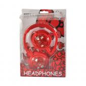 Officially Licensed Sanrio Red Apples Hello Kitty Stereo Headphones w/ Microphone