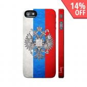 OEM Luardi Apple iPhone 5 Hard Case - Russian Flag