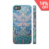 OEM Luardi Apple iPhone 5 Hard Case - Bohemian Flowers on Blue