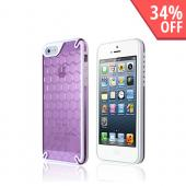 Hornettek Ozone Bee Hive Purple/ White Hybrid Case w/ Hexagonal Design for Apple iPhone 5/5S