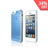 Hornettek Ozone Bee Hive Blue/ White Hybrid Case w/ Hexagonal Design for Apple iPhone 5/5S