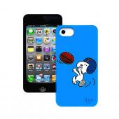 iLuv Peanuts Football Snoopy on Blue Rubberized Hard Case for Apple iPhone 5/5S