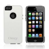 Otterbox White/ Gray Commuter Series Hard Case Over Silicone w/ Screen Protector for Apple iPhone 5/5S