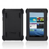 Otterbox Black Defender Series TPU Over Hard Case w/ Built-In Screen Protector & Stand for Samsung Galaxy Tab 2 7.0