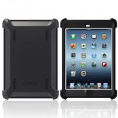 Otterbox Black Defender Series TPU Over Hard Case w/ Built-In Screen Protector & Stand for Apple iPad Mini