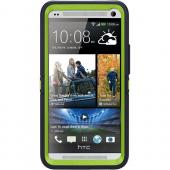 Otterbox Punked (Navy Blue/Lime Green) Defender Series TPU Over Hard Case w/ Holster & Built-In Screen Protector for HTC One
