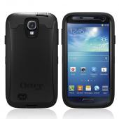 Otterbox Black Defender Series TPU Over Hard Case w/ Holster & Built-In Screen Protector for Samsung Galaxy S4