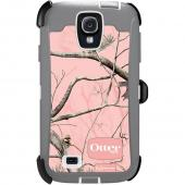 Otterbox Pink RealTree Camo Defender Series TPU Over Hard Case w/ Holster & Built-In Screen Protector for Samsung Galaxy S4