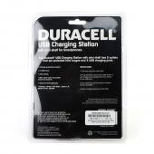 Duracell Gray Dual Surge Protected Sockets & Dual USB (2.1A) Charging Station w/ Mini Shelf - DU6207
