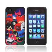 OEM iSkin Aura Happy Friends Edition Apple iPhone 4/4S Ultra Slim Hard Case w/ Screen Protector - Happy Friends on Black