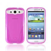OEM iSkin Vibes Samsung Galaxy S3 Anti-Microbial Crystal Silicone Case w/ Screen Protector, VBSSG3-PK4 - Hot Pink
