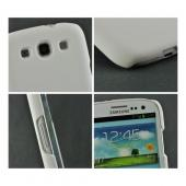 White High-Impact Resistant D3O Rubberized Hard Case for Samsung Galaxy S3