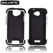 Original Ballistic HTC One S SG Hard Case on Silicone, SG0875-M385, Black/ White