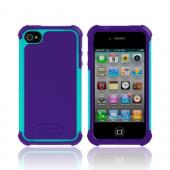 OEM Ballistic Apple iPhone 4/4S SG Hard Case on Silicone, SA0582-M015 - Purple/ Teal