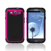 OEM Ballistic Samsung Galaxy S3 Hard Case on Silicone, SG0930-M365 - Black/ Hot Pink