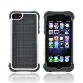 OEM Ballistic Apple iPhone 5/5S SG Hard Case on Silicone  SG0926-M185 - Gray/ White