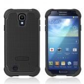 Ballistic Black Shell Gel Series Back Cover Over Silicone Case for Samsung Galaxy S4