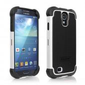 Ballistic Black/ White Shell Gel Series Back Cover Over Silicone Case for Samsung Galaxy S4