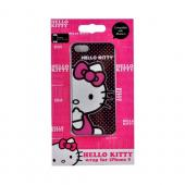 Officially Licensed Sanrio Apple iPhone 5 Hard Back Cover, KT4489PBD - Hello Kitty on Pink Polka Dots
