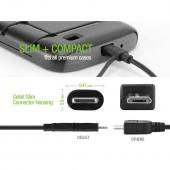 Cellet 2 in 1 Micro USB + Lightning Compatible (Licensed by Apple, MFI Certified) Charging/Data Sync Cable
