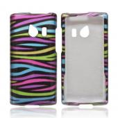 OEM MultiPro Huawei Ascend Q M660 Hard Case - Rainbow Zebra on Black
