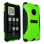 Trident Lime Green/ Black Aegis Series Hard Cover on Silicone Case w/ Screen Protector for Nokia Lumia 521 - AG-NOK-LUMIA520-TG