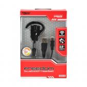 OEM KMD Freedom Wireless PS3 & Smartphone Bluetooth Headset w/ Mini USB Data Cable - Black