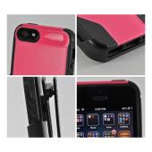 Hot Pink/ Black Rugged Hard Case on Silicone w/ Holster & Screen Protector OEM Incipio for Apple iPhone 5 Stanley Technician Series