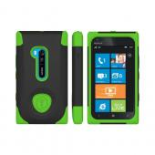 OEM Trident Aegis Nokia Lumia 900 Hard Case Over Silicone w/ Screen Protector - Green/ Black