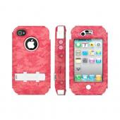 OEM Trident Kraken AMS Apple iPhone 4/4S Hard Case Over Silicone w/ Screen Protector, Kickstand & Belt Clip - Urban Pink Digital Camo