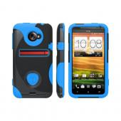 OEM Trident Aegis HTC EVO 4G LTE Hard Case Over Silicone w/ Screen Protector - Blue/ Black