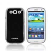 OEM PureGear Samsung Galaxy S3 Slim Shell Hybrid Hard Case, 02-001-01692 - Black/ Gray