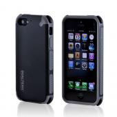 OEM PureGear Apple iPhone 5/5S DualTek Extreme Shock Hybrid Hard Case w/ Screen Protector - Black/ Gray